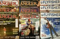 American Angler & Fly Fisher Magazine Lot Of 9 Fishing Magazines Mixed Years