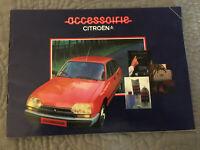 Citroen Accessories 1980-81 UK Market Sales Brochure 2CV Dyane Visa GSA CX
