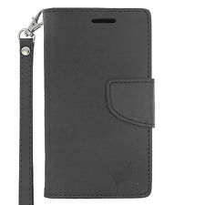 Black Leather Wallet Pouch Case For LG Leon C40 Power L22C Destiny L21G Phone