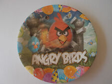 """ANGRY BIRDS  9"""" BIRTHDAY PARTY PAPER PLATES  PK8 NEW"""
