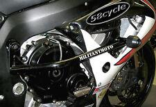 2006-2016 R6 Frame Rails Sliders Barrier Bars BLACK NO Cut Militant Moto