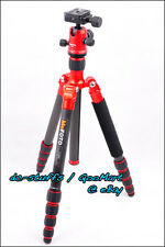 MeFoto RoadTrip C1350Q1 Carbon Fiber Tripod Monopod Kit RED * EXPRESS SHIP