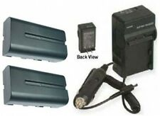 2 Batteries + Charger for Sony DCR-VX2200 DCR-VX2200E HXR- MC1500 HXR- MC1500P