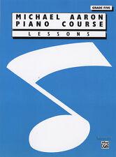 Lecciones CURSO PIANO MICHAEL AARON GRADO 5 aprende a jugar método