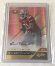 Rare 2011 Absolute memorabilia spectrum Braylon Edwards AUTO SP#2/5 49ers Browns
