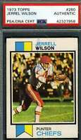 Jerrell Wilson Psa Dna Coa Autograph 1973 Topps Authentic Hand Signed