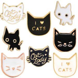 Cat Brooch Pin Badge Cat Lady Gift Enamel Jewellery Kitten Pet Ladies Cute New
