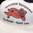 NOS Vtg 1994 PIG ROAST Mesh TRUCKER Hat HoG Roughneck Snapback 90's Redneck Cap