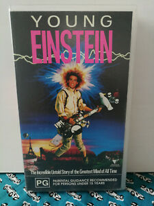 Young Einstein VHS Classic Cult Film Free Postage