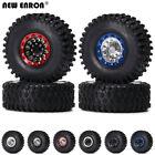 """1.9"""" Alloy Beadlock Wheel Rim&122mm Tires for 1/10 RC AXIAL D90 SCX10 90046 CC01"""