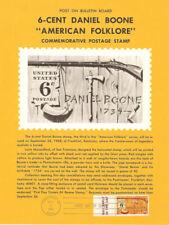 #1357 6c Daniel Boone Stamp Poster- Unofficial Souvenir Page Flat HC
