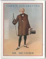 Mr. Micawber Charles Dickens Character David Copperfield  c80  Y/O Ad Trade Card