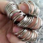 Lot 50pcs Metal Key Holder Split Rings Keyring Keychain Keyfob Accessories D25mm