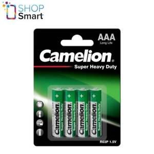 4 Camelion AAA Piles R03P Super Résistant Long Life 1.5V 4BL Exp 2023 Neuf