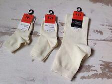 P21-23- Chaussettes DORE DORE (DD) NEUVES - Socqu unie ecru (7.80€)