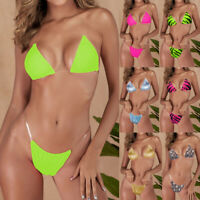 Fashion Women Push Up 2 Pcs High Waist Bikini Set Clear Strap Padded Swimsuits