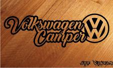 VOLKSWAGEN VW Camper/Furgone/Paraurti/Laptop/Muro Adesivo Vinile Decalcomania