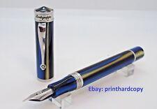 Brand New Montegrappa Ducale Mare Fountain Pen Silver Trim.