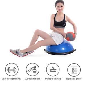 Home Gym Half Balance Ball Yoga Pilates Fitness Wobble Board Exercise W/ Pump