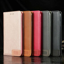 For Samsung A20e S9 Plus S8 S7 S6 Magnetic Leather Wallet Case Card Slot Cover
