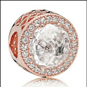 Charm Argent S925 strass rose Neuf