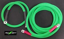 Battery Relocation Kit, 4/0 Awg Welding Cable, Top Post 20'/4' NEON GREEN SAE