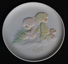 Vtg Precious Moments Plate 1984 Joy of Christmas In Box Wonder of In Box New
