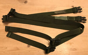 British Army PLCE Side Pouch Strap X2 Side Pouch Rucksack Rocket Pack DPM Green