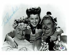 Trudy Marshall w/Laurel & Hardy Signed Autographed 8x10 Photo PSA/DNA COA