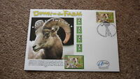 2005 AUSTRALIAN ALPHA STAMP ISSUE FDC, DOWN ON THE FARM, GILBERT THE GOAT