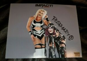 ROSEMARY Autographed Official IMPACT Wrestling Photo w/ Hologram * TAYA VALKYRIE