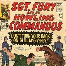 1965 Marvel Comic # 22 ~ Sgt Nick Fury & His Howling Commandos ~ Silver Age
