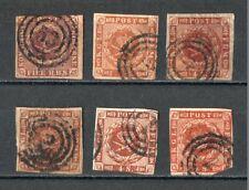 Briefmarken Dänemark 1851-1858 gestempelt