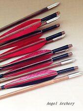 12PK Nice Traditional handmade bamboo arrows Archery hunting longbow Arrow Shoot