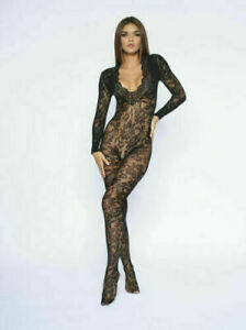 Ann Summers The Supreme Crotch-less Body Stocking, Black, Sizes S - L