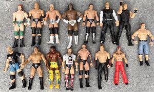 USED 15 X WWE Mattel action figure JAKKS BASIC Kid toy Role Play Wrestling LARGE