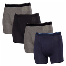Tagless Mens Underwear Boxer Briefs 3X-Large Multi 4 Pair Stretch Fabric Cotton