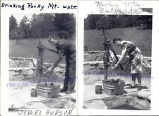 1930s Man Woman at Rocky Mountains Park Meyers Cast Iron Well Hand Pump Photos