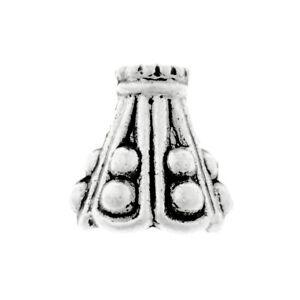50pcs Beads End Caps Tibetan Silver Metal DIY Jewelry Findings Cone 10x9x9mm