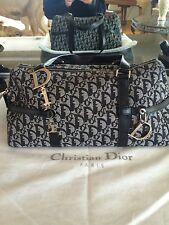 Christian Dior Black Monogram Signature Canvas Leather Satchel Bag Italy 💯Authe