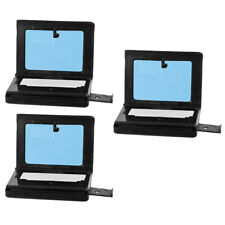 Set of 3 Plastic Toy Laptop Computer Accessories for 6 Inch Action Figures