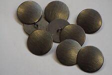 8pc 25mm Steel Grey Brushed Metal Blazer Cardigan Knitwear Children Button 3430