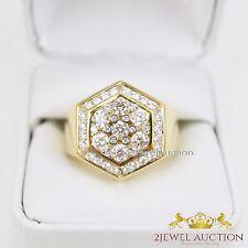 14k Yellow Gold Mens Round Diamond Wedding Engagement Pinky Ring Band 1.30 Ct