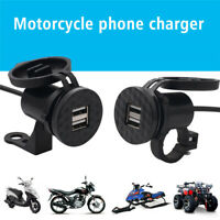 12V USB Motorcycle Mobile Phone Power Supply Charger Waterproof Port Socket