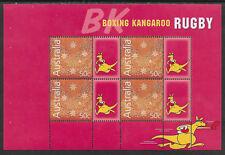 RUGBY AUSTRALIA 2004 BOXING KANGAROO BOOKLET PANE MNH