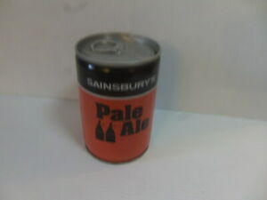 Sainsbury's Pale Ale – Can with intact ring-pull c1980 EMPTY drilled base