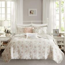 Madison Park Serendipity Twin/Twin Xl Size Quilt Bedding Set - Coral, Floral – 5