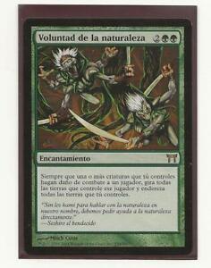 VOLUNTAD DE LA NATURALEZA Champions of Kamigawa Magic Español Nature's Will MTG