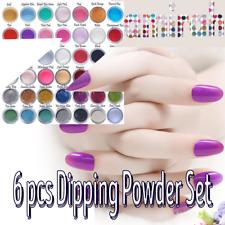 6 Pc Zamirah Dipping Powder Nail Acrylic Professional Set Kit,No UV Light Needed