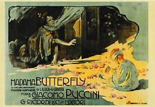 post card 🎭 PUCCINI MADAMA BUTTERFLY Theater Opera Giacomo Vintage style #82